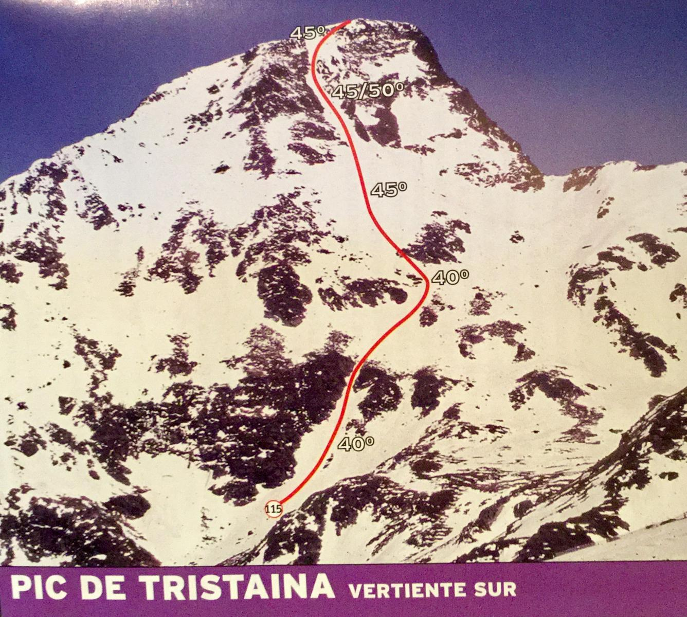 Photo of Pic de Tristaina south face on skis