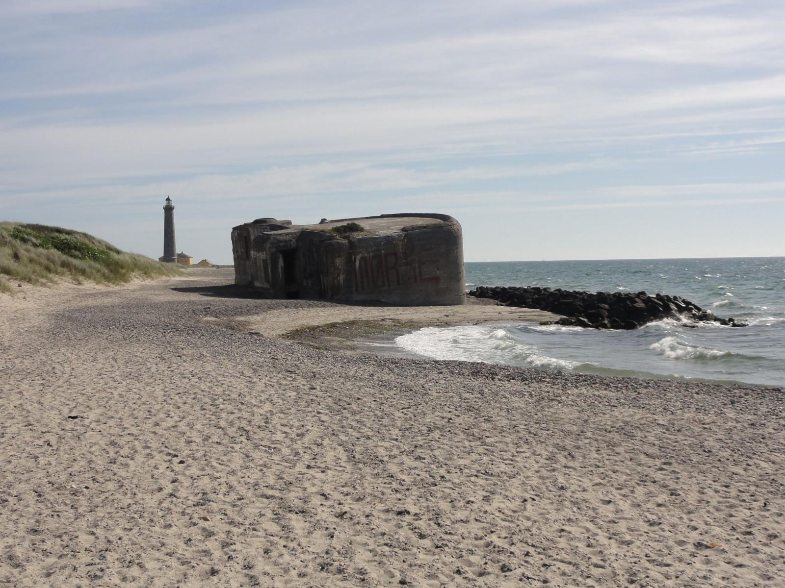 Fénykép Bunker,  and the grey Lighthouse,  46 m high