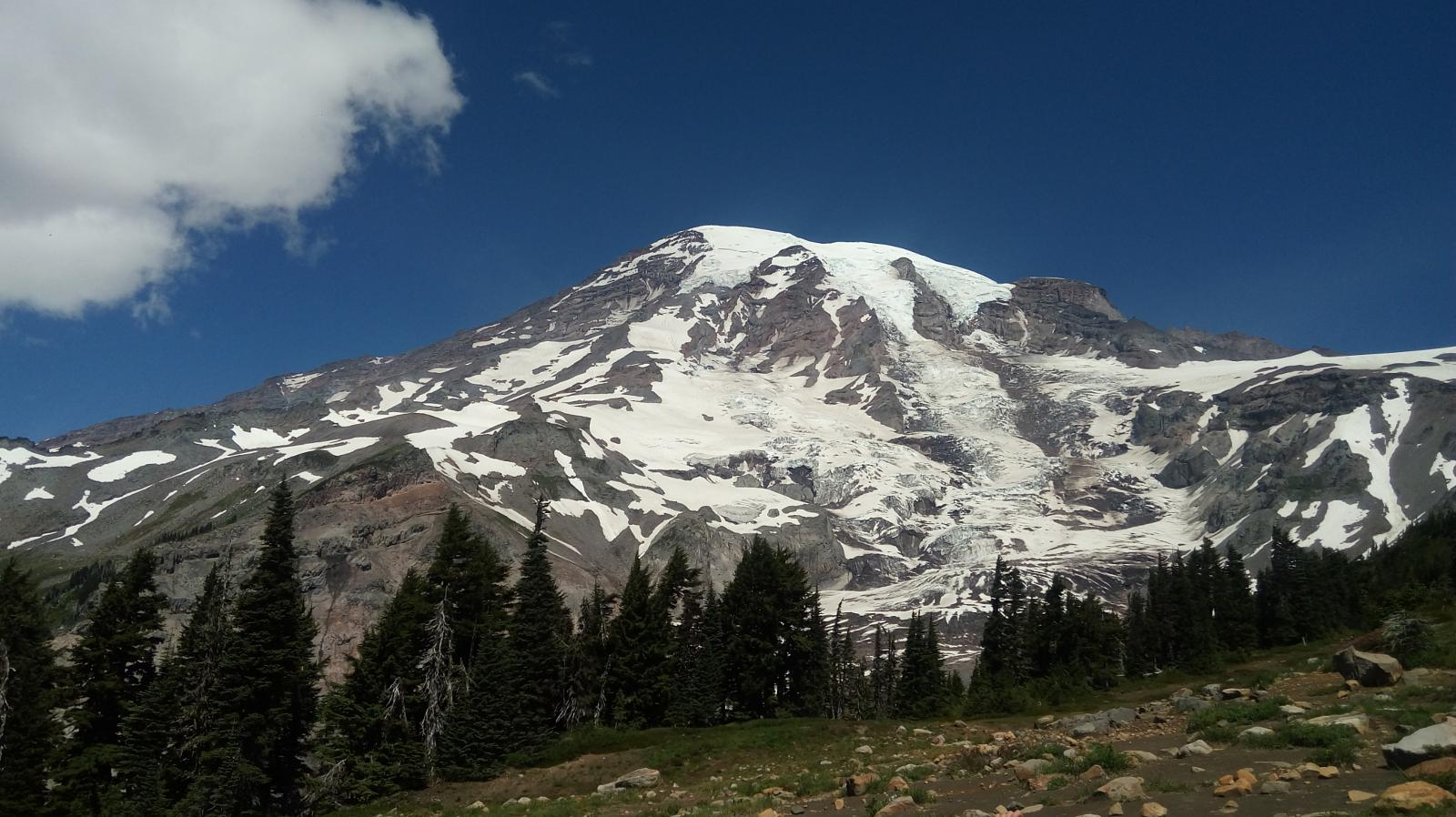 mynd af Skyline trail. Mount Rainier National Park.