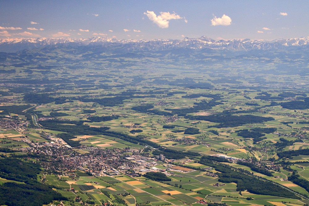 Foto de Glider Plane Flight from Winterthur to the Lake of Constance