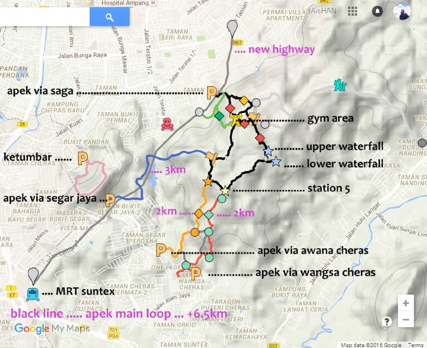 Фото apek hill / bukit saga map