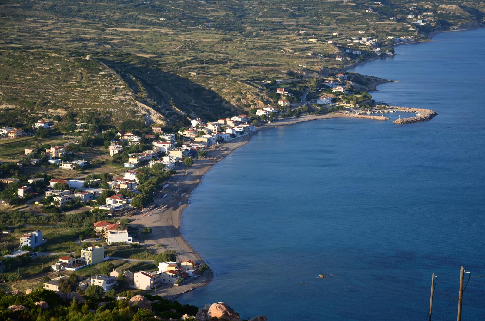 Photo of Chios island, top of Prophet Ilias Hill