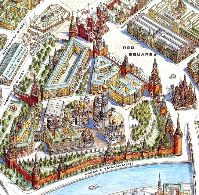 Photo of Red square of Moscow : Basil cathedral, Kremlin, Lenin's mausoleum (Mummy body) ( day 1 ) میدان سرخ مسکو