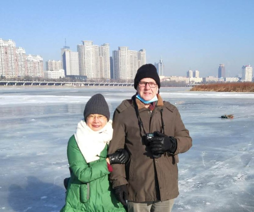 Fénykép Jilin City , Jilin Province, PRC - Riverside walk in winter